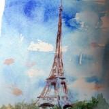 francois de mere la tour eiffel aquarelle